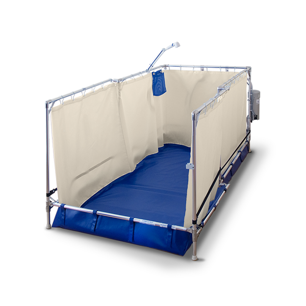 FAWSsit R3000 Recliner portable shower stall.