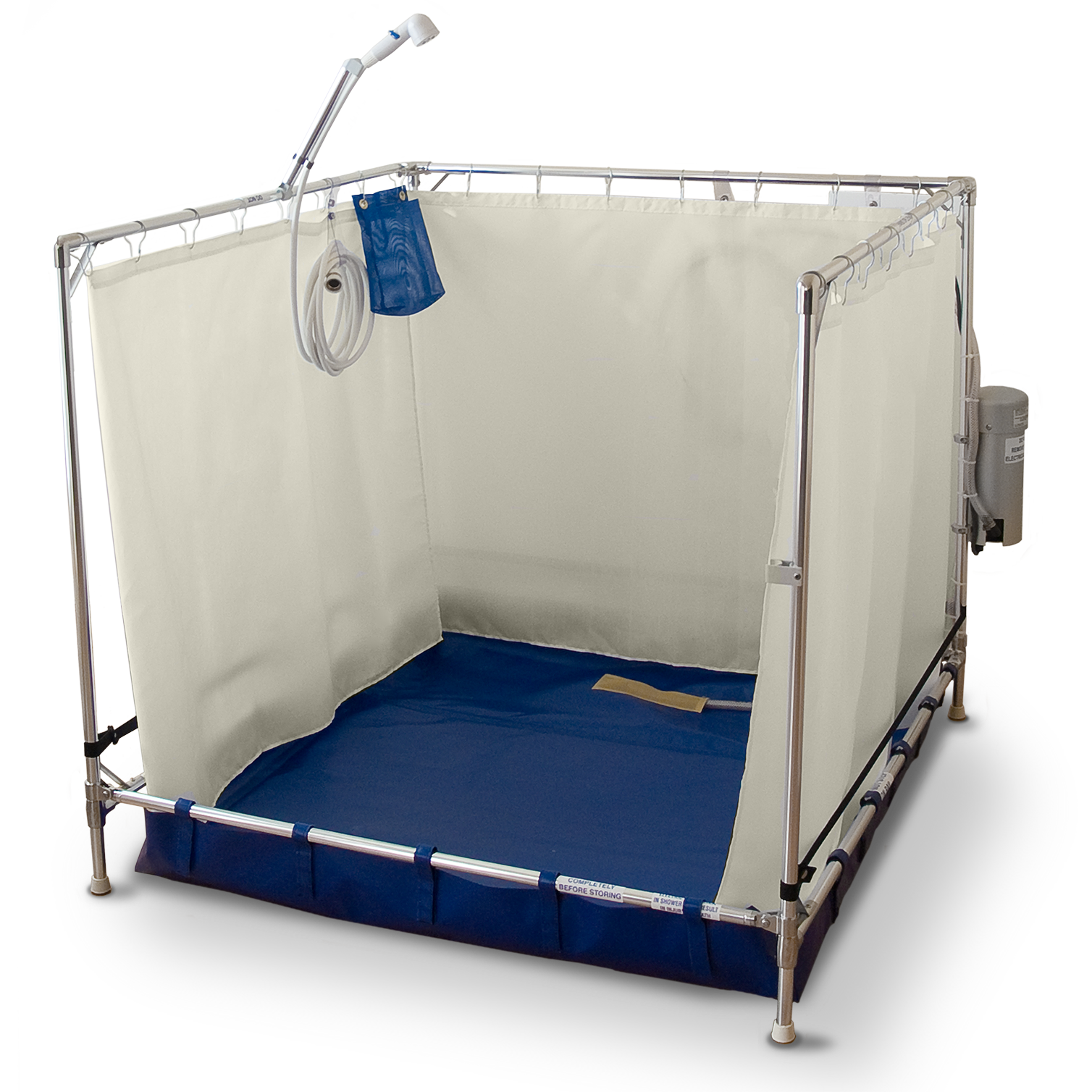 FAWSsit B5000 Bariatric portable shower stall.