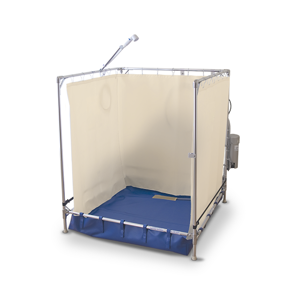 Our FAWSsit™ portable shower floor is specially designed for easy access and water-proof use.
