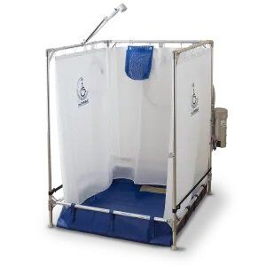 FAWSsit S2000 Standard portable shower stall.